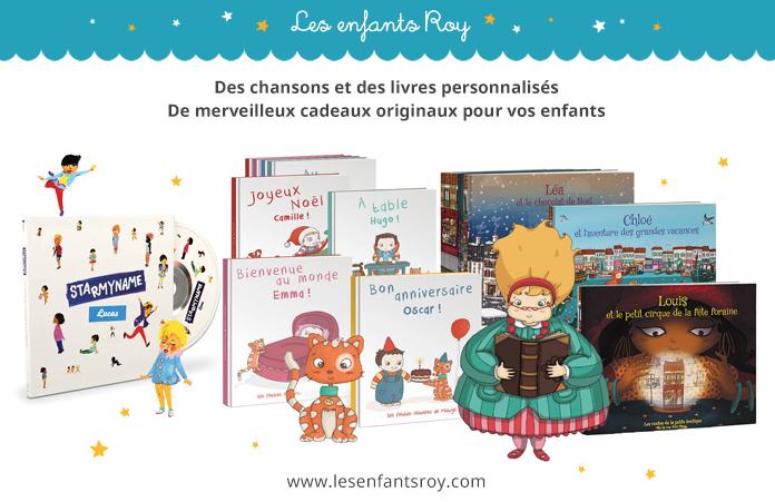 Personnalise tes livres et CDs pour enfants avec Les enfants Roy (+ concours)