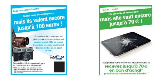 Carrefour Amiens récupère et recycle vos anciens caméscopes, appareils photo, caméras sport et tablettes tactiles