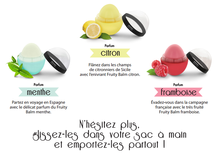 Fruity Balm hydrate* vos lèvres