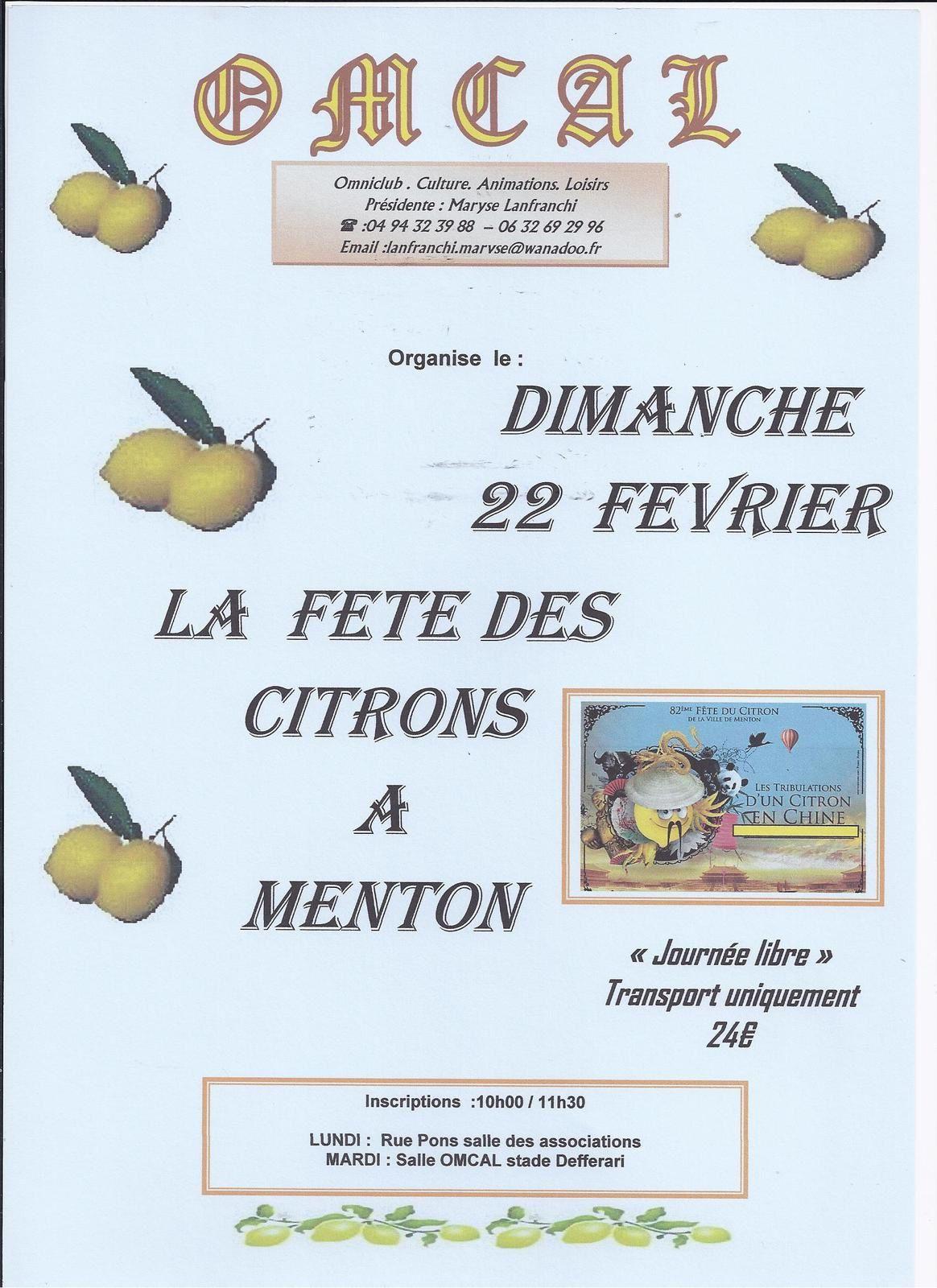 La Fête des citrons à Menton