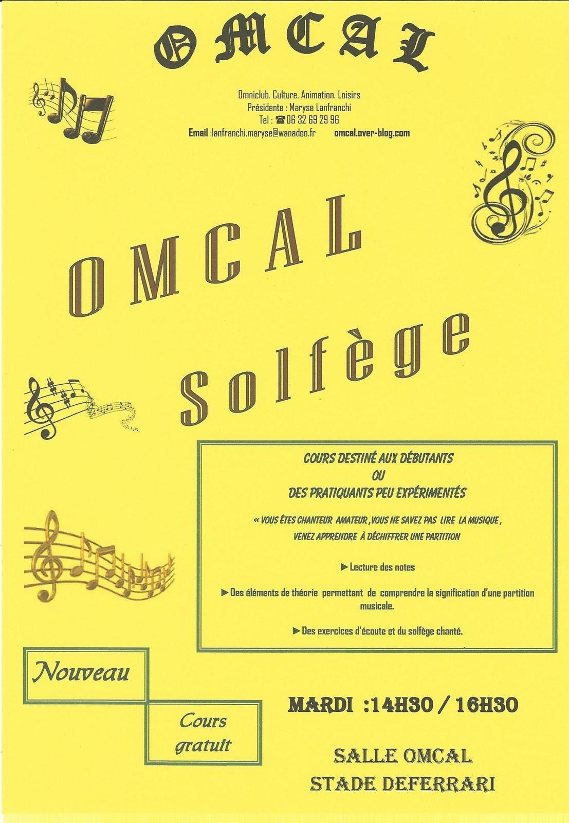 OMCAL : Nouvelles activités