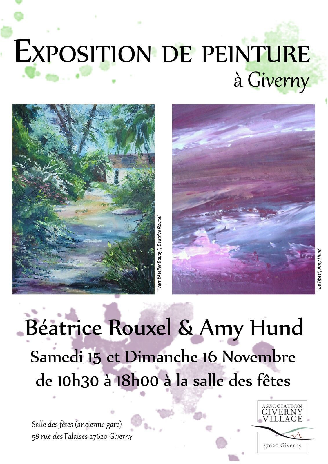 exposition à Giverny 2014 AMY et BEATRICE