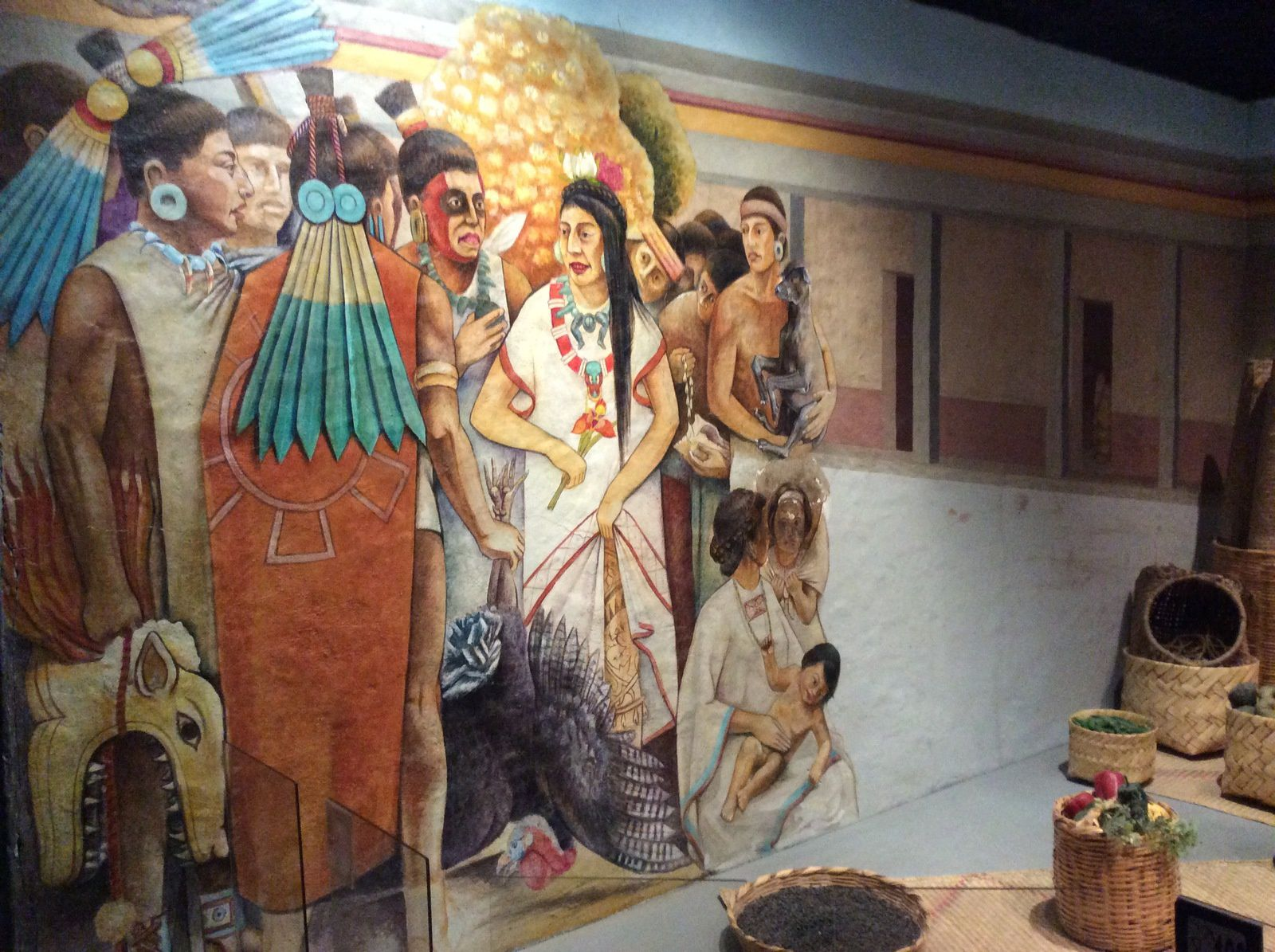 Marché Maya (Musée d'anthropologie-Mexico)
