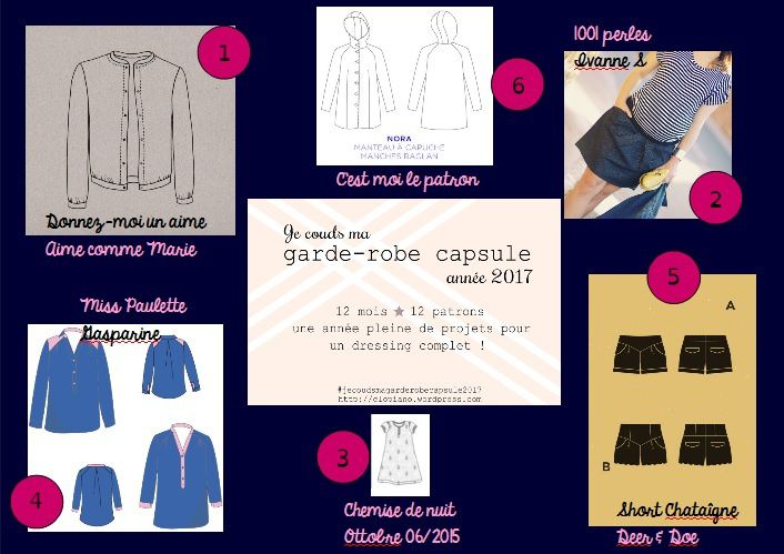Je couds ma garde-robe capsule 2017 - Dodey