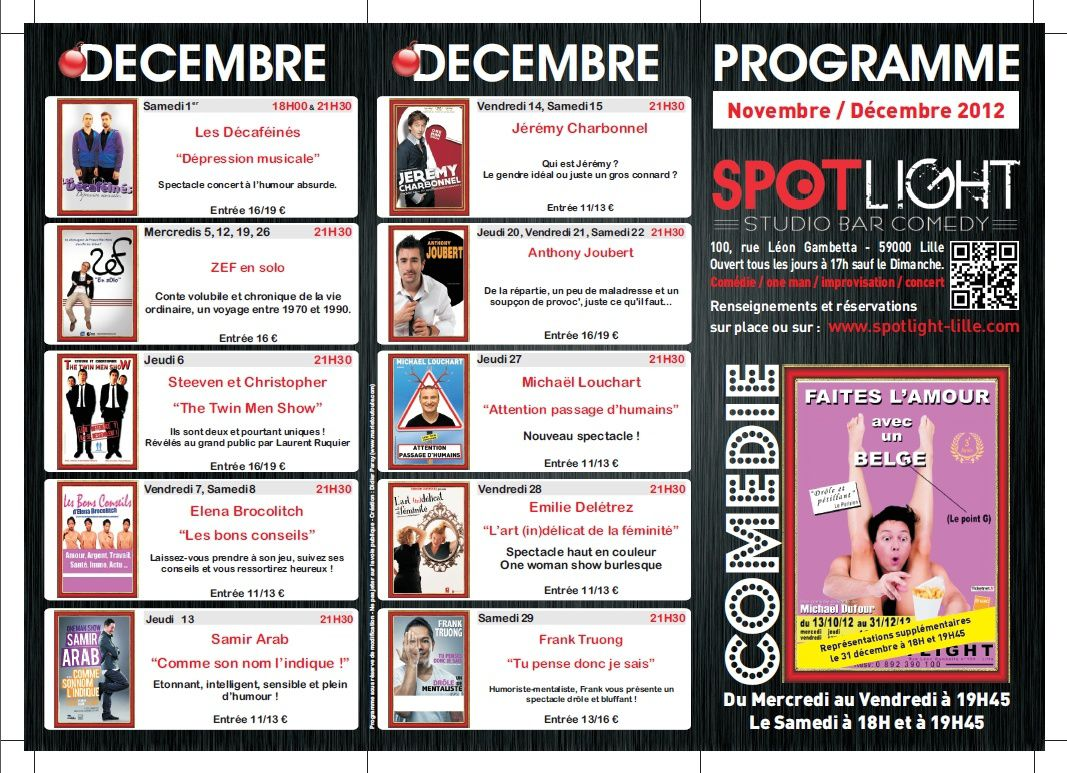 Spotlight - Programme 2012 Nov / Dec