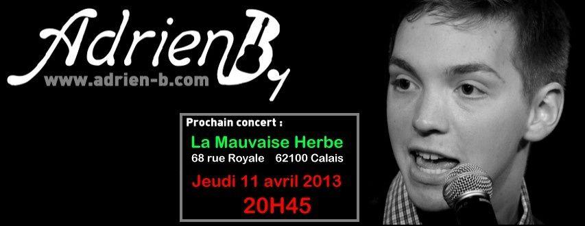 Adrien B. - concert à la Mauvaise Herbe