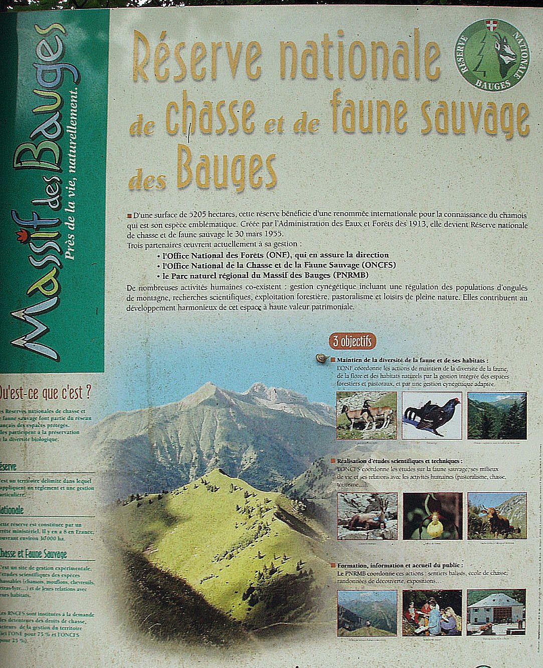 Cette randonnée se situe dans le massif des Bauges.