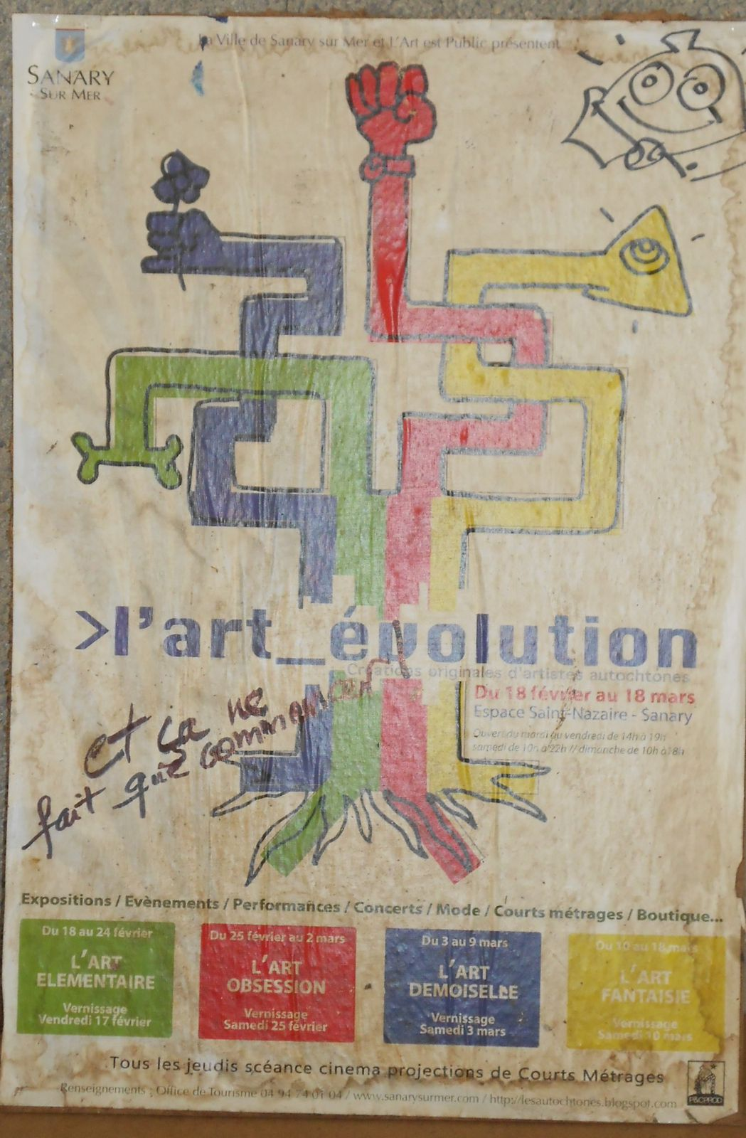affiche archeologique l'art_evolution