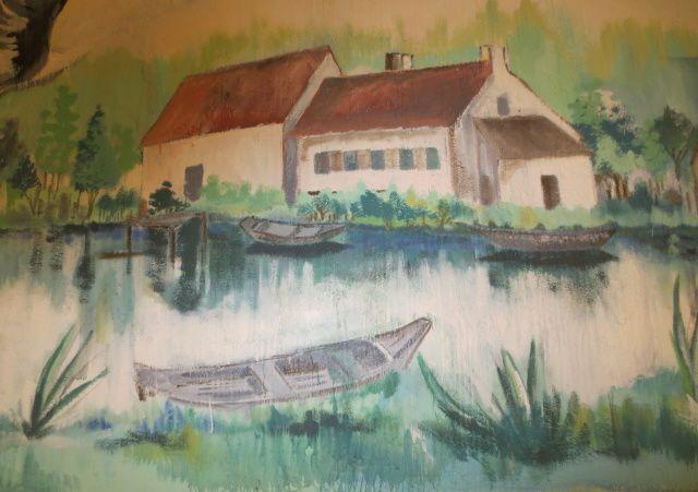Mur peint, reflet de l'environnement