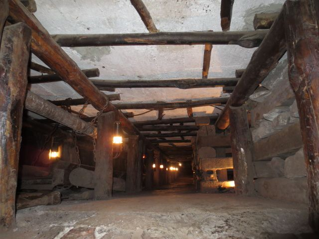 Une des galeries souterraines