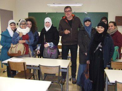 Eleves et professeur