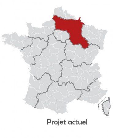 Projet gouvernemental: la Picardie rejoindrait Champagne-Ardennes.