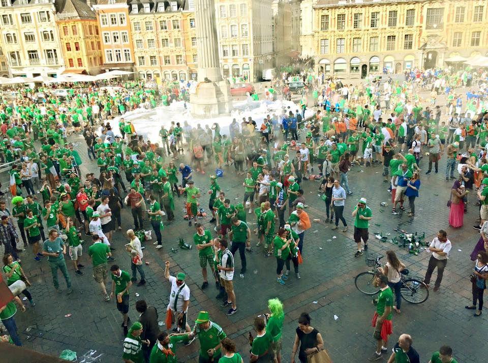 La Grand Place de Lille  colorée en vert