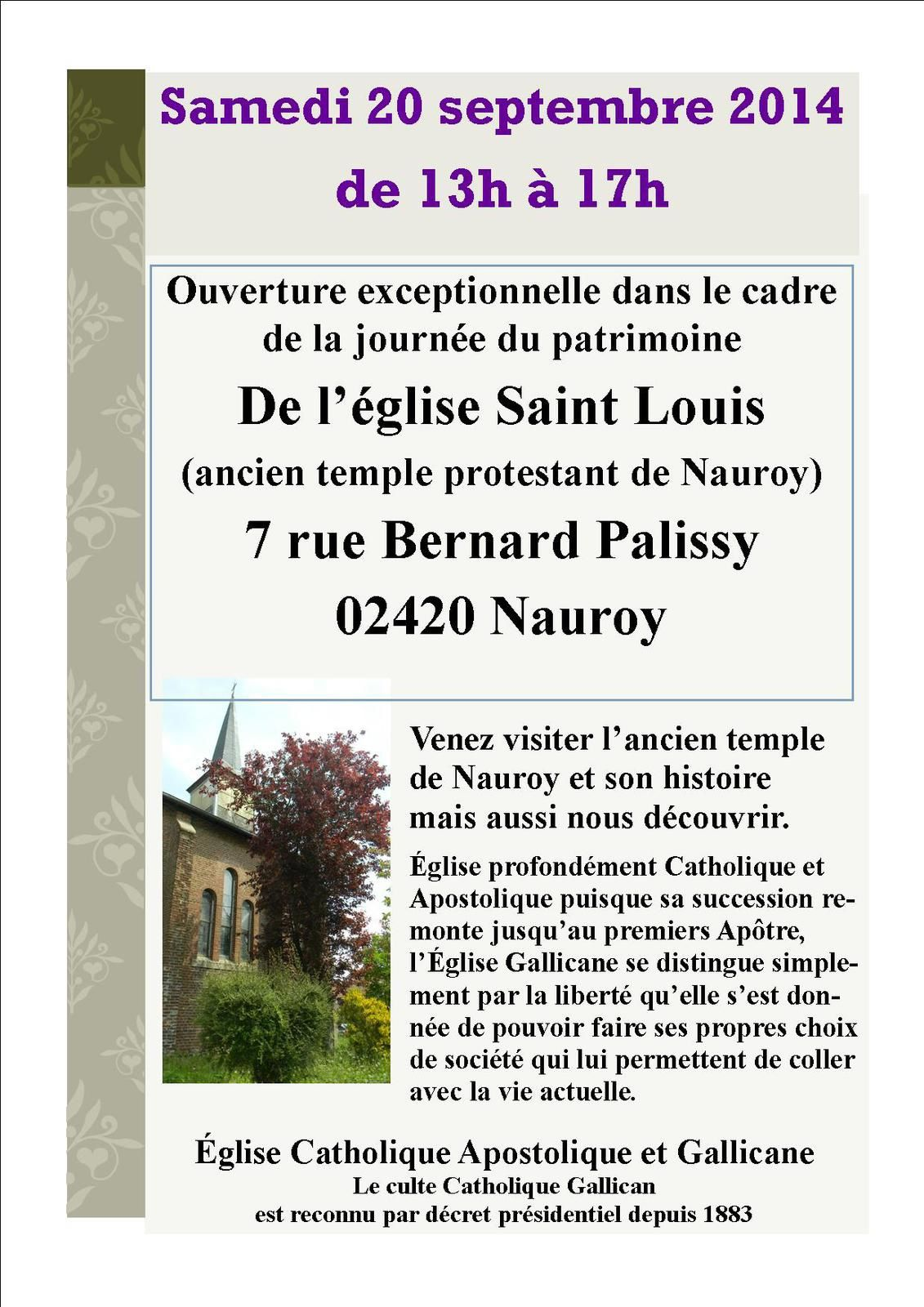 Portes ouvertes à l'église Gallicane Saint Louis de Nauroy