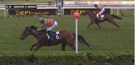 """INDIAN MISS  gagne à Bordeaux à 17€90..............c'était sur """"danturf"""" en 2 chevaux encore !!!!!"""
