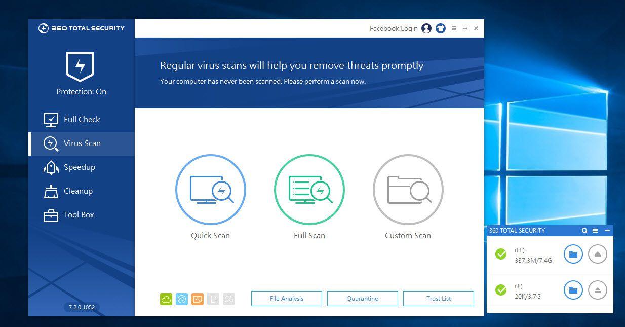 360 Total Security : Un antivirus complet