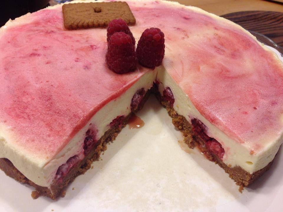 Cheesecake framboises spéculoos