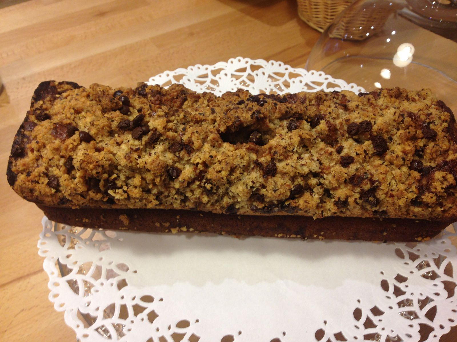 Banana bread crumble noisettes