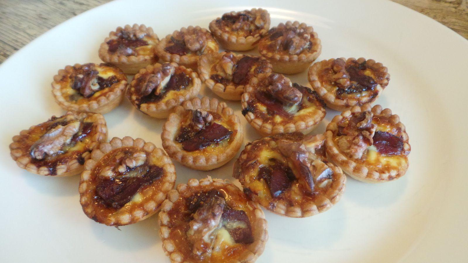 Mini tartelettes figue magret noix