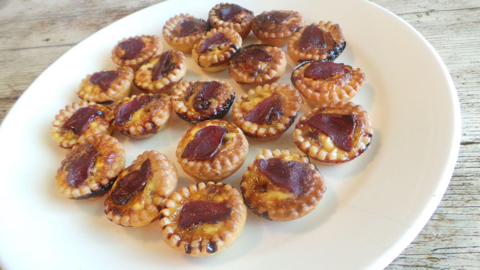 Mini tartelettes confit oignon magret de canard