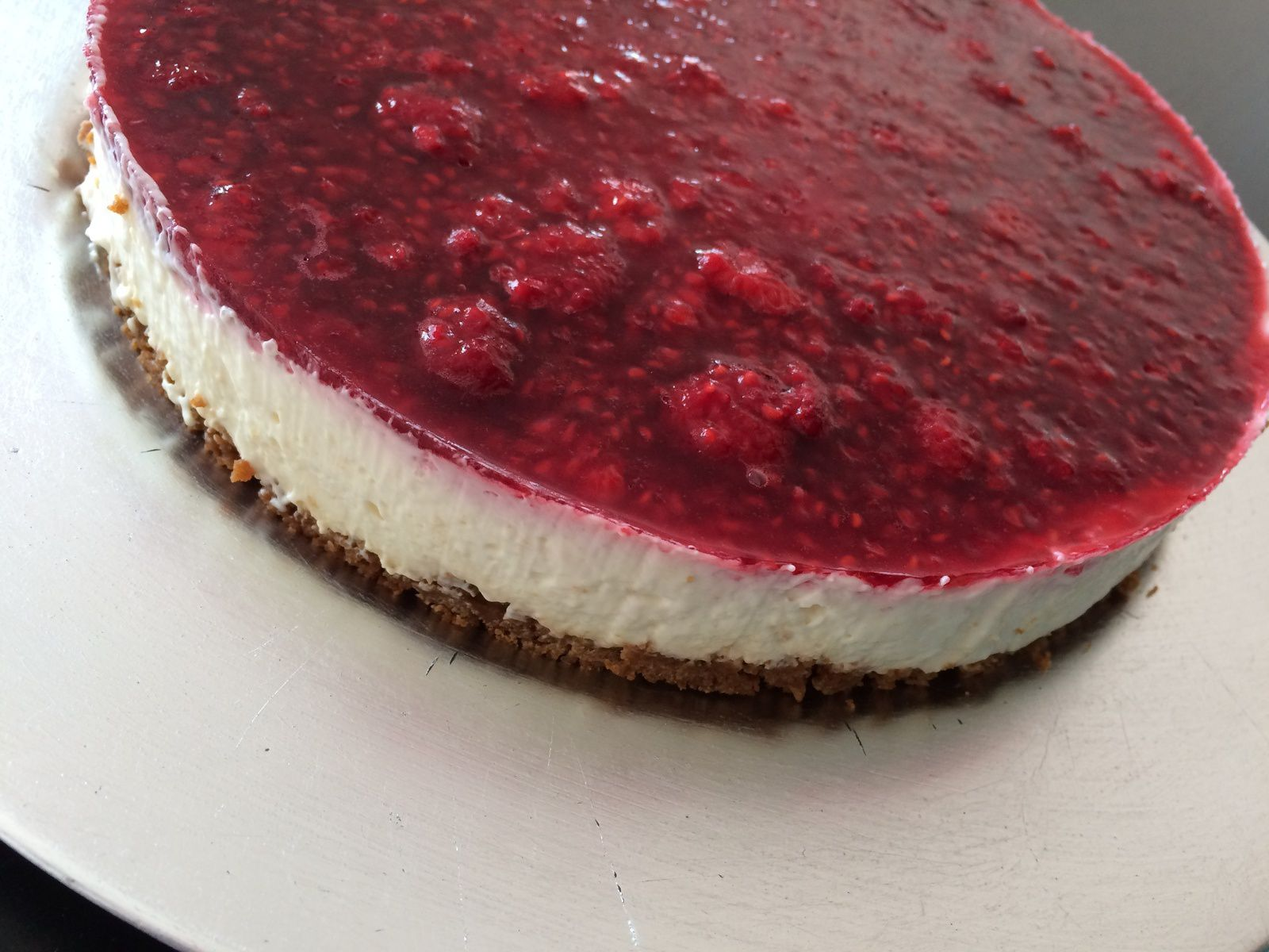 Cheesecake framboises spéculoos