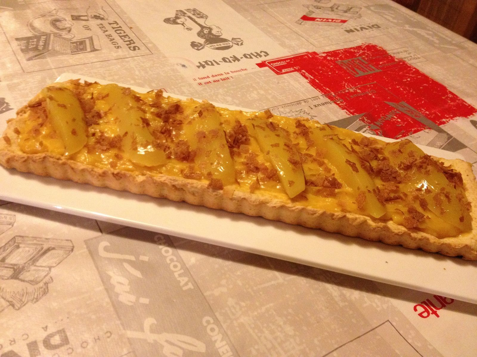Tarte passion mangue