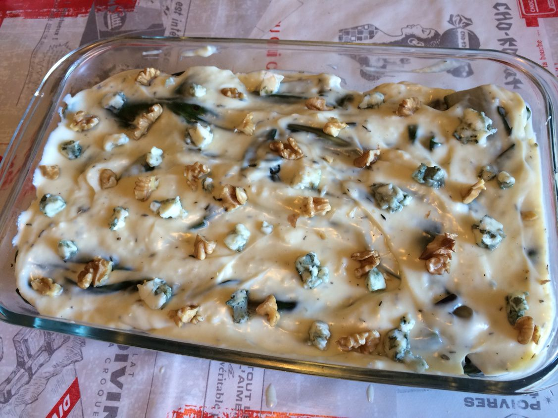 Gratin de bettes au roquefort