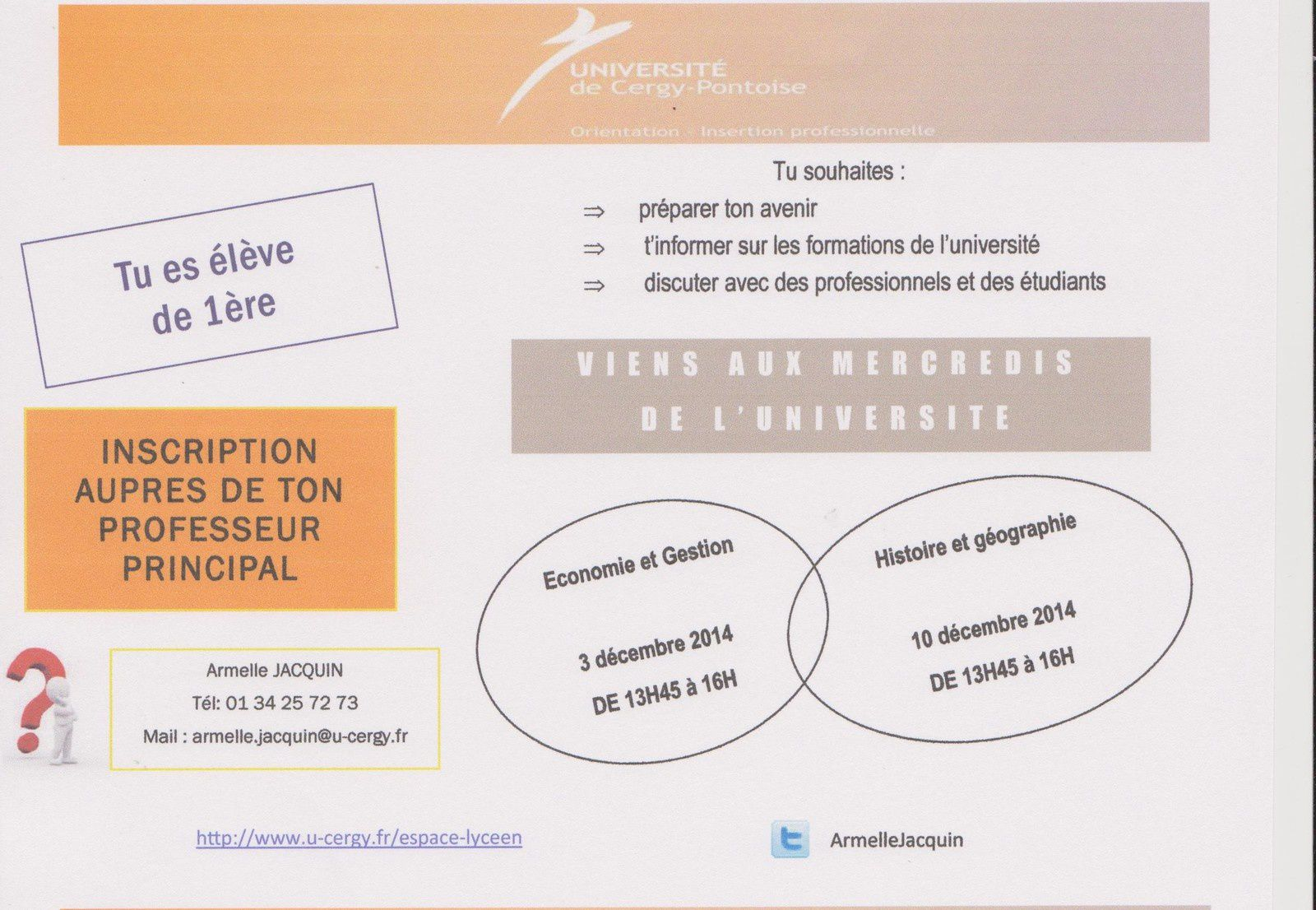 Le Flyer de l'Université de Cergy