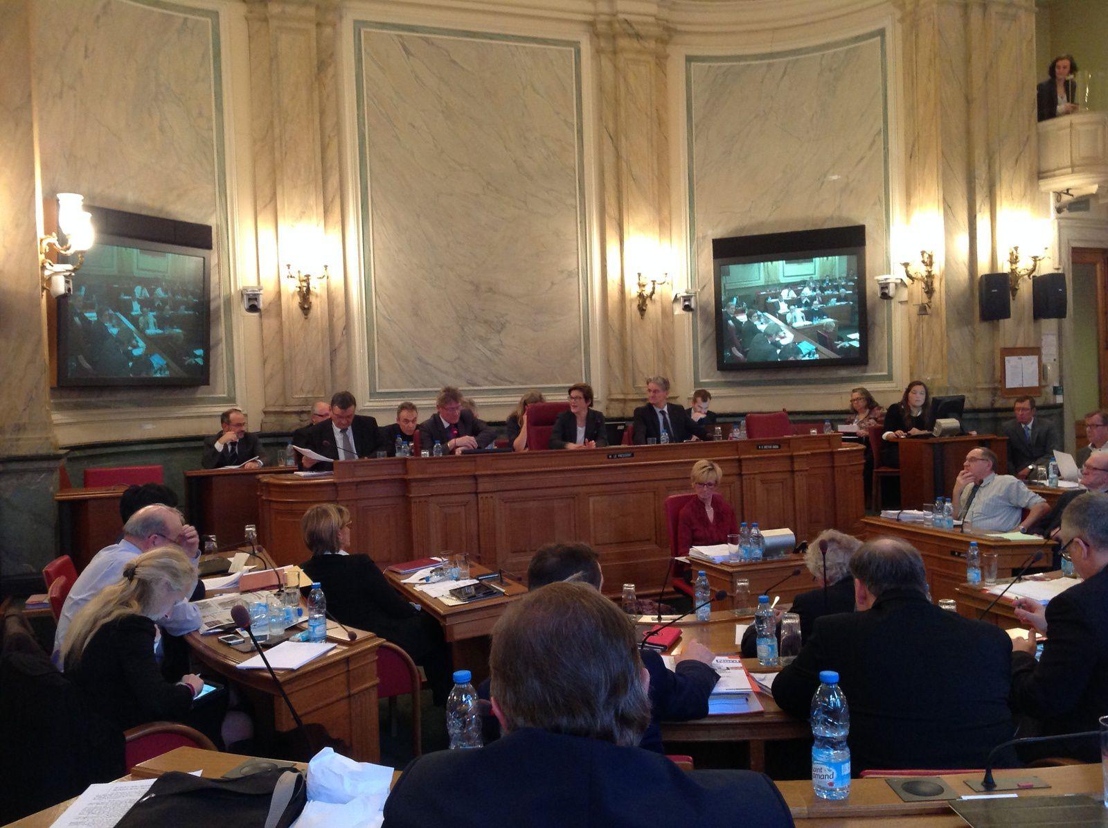 Mercredi 17 décembre au CG 59 à Lille, de 9h00 à 17h15 : participation à la troisième et dernière journée de débats pour le budget 2015.
