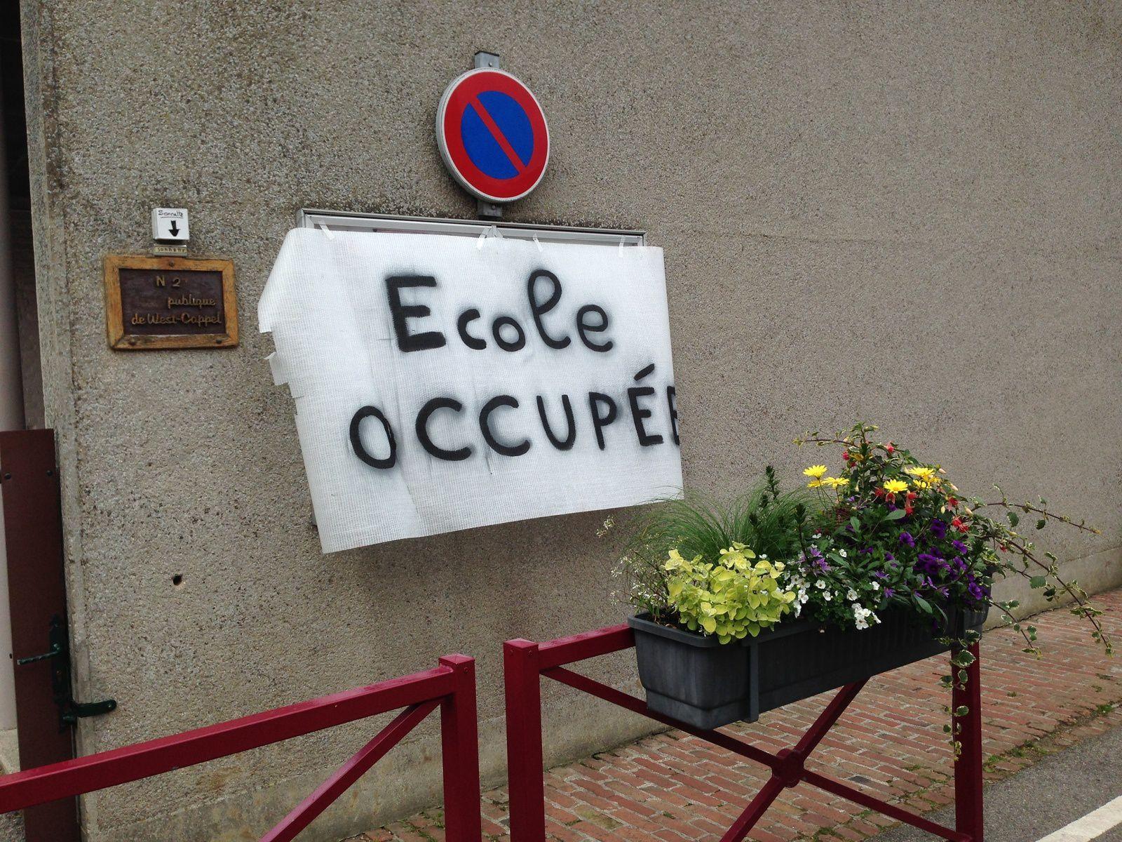 Occupation des locaux scolaires à West-Cappel : un succès.