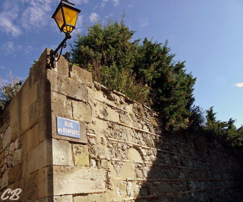 Rue des remparts qui ceint en partie le Capitoul, Dans ce bâtiment étaient emmagasinés les grains, le vin et la dîme. Certains disent qu'il y aurait eu un château à cet emplacement...