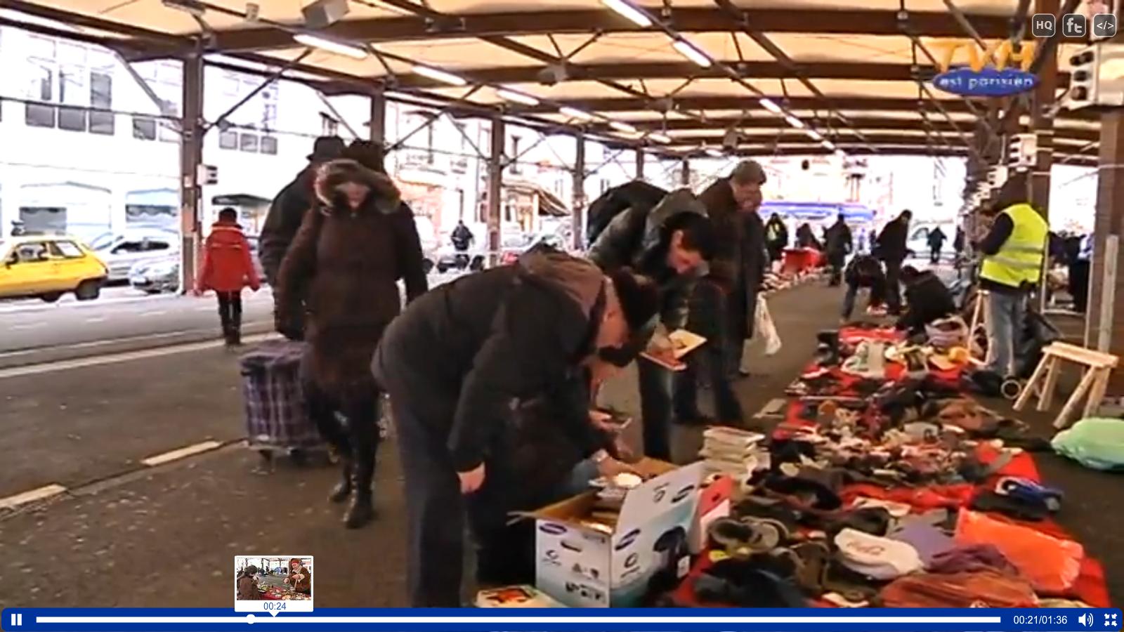 """Sujet de JT : """"1er marché officiel des biffins, à Montreuil"""""""