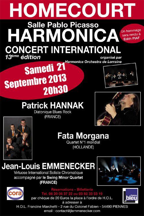 21 septembre 2013 : 13ème concert international d'harmonica