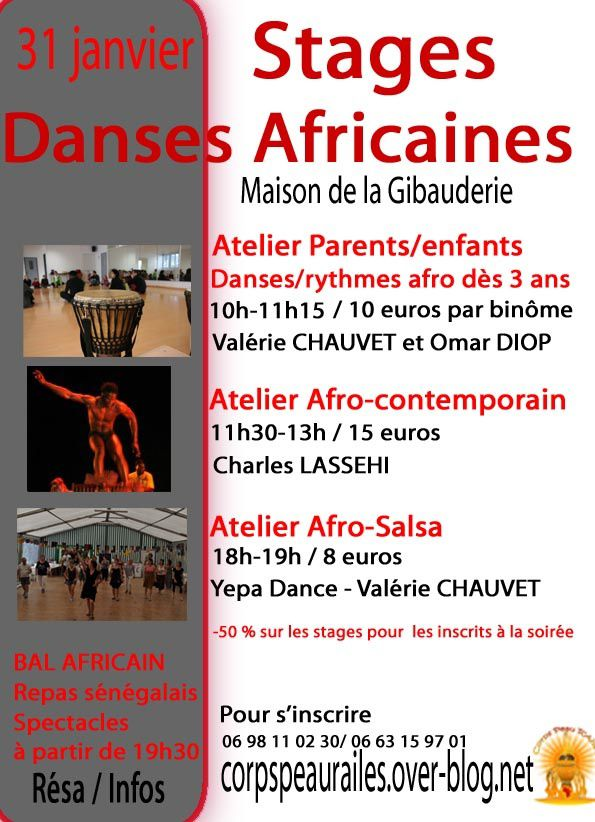Stages Danses africaines 31/01/15 Poitiers