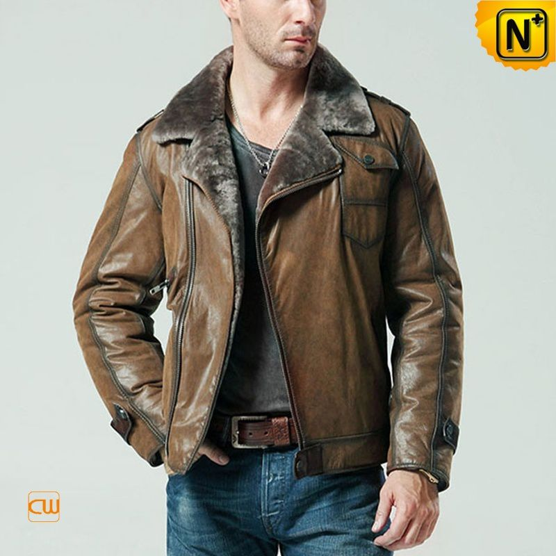 Shearling Jackets Coats for Men - Genuine Leather Sheepskin Coats