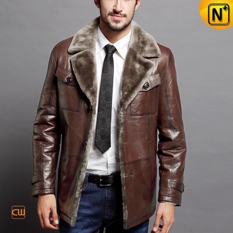 shearling coats for men - Genuine Leather Sheepskin Coats