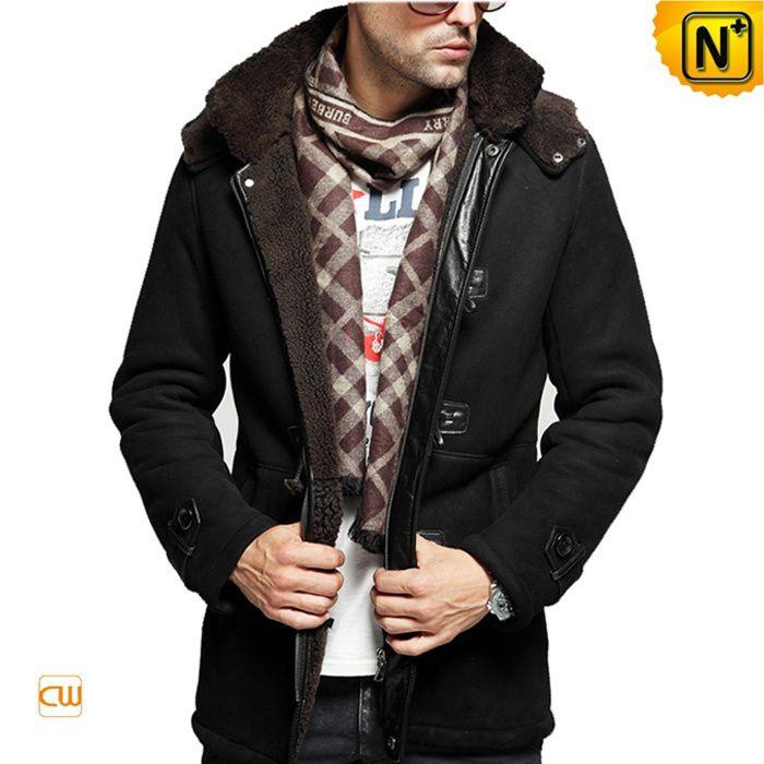 Practicality Sheepskin Coats for Men - Genuine Leather Sheepskin Coats