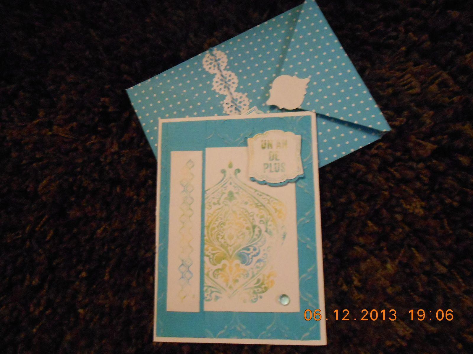 Carte d'anniversaire et petit sac à friandises