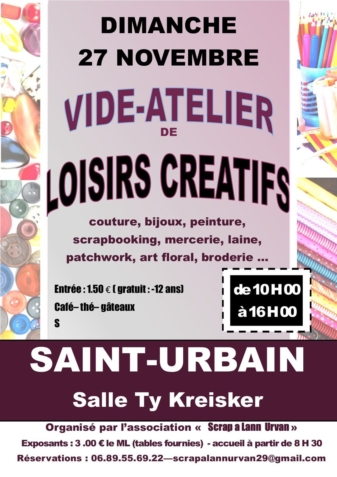 VIDE GRENIER LOISIRS CREATIFS