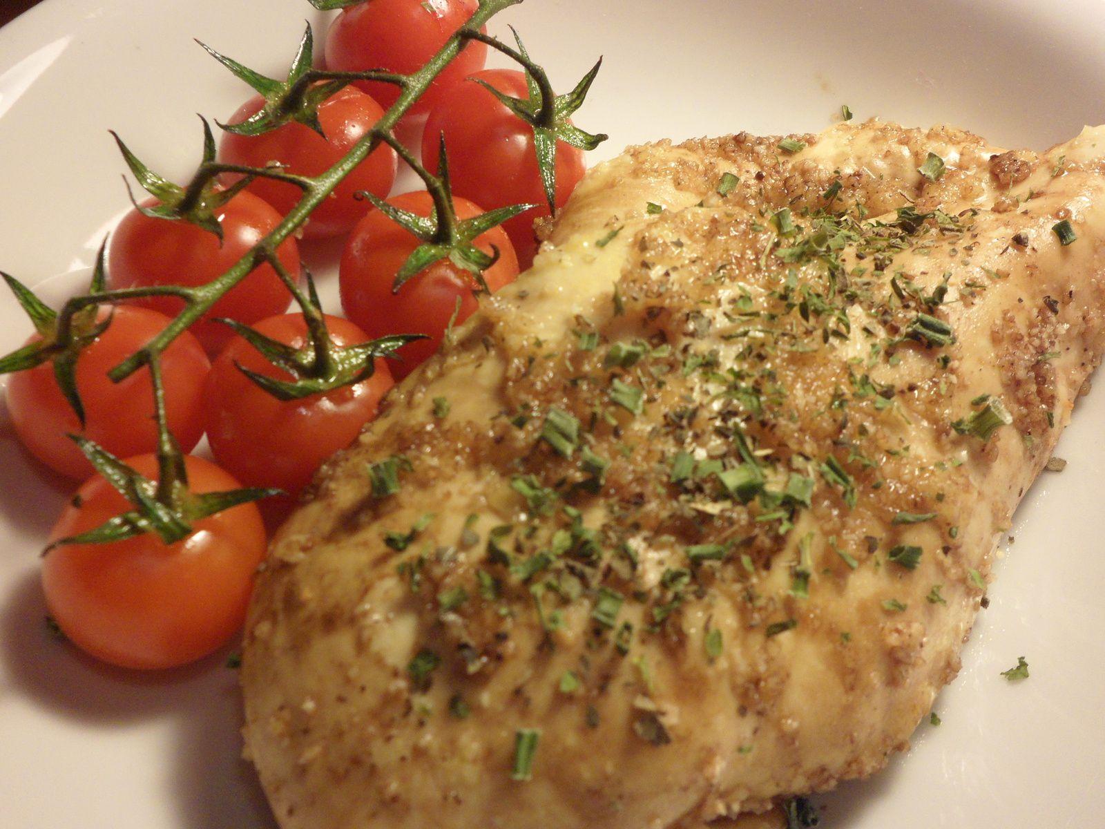 Poulet grillé sauce balsamique