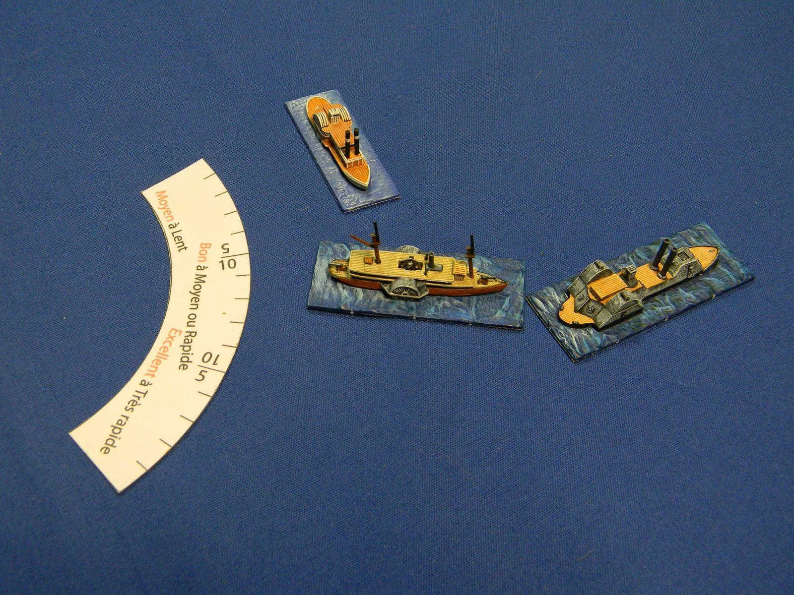 les girations sont gérées simplement par un jeu d'abaques adaptées à la manœuvrabilité et la vitesse de chaque navire.