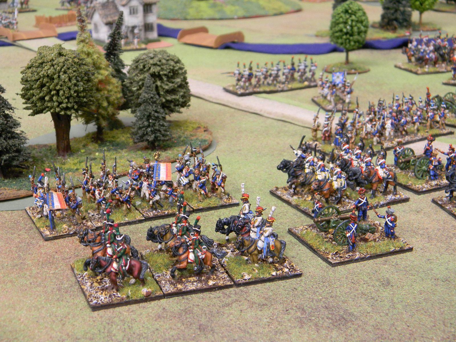 Dans une sorte d'incroyable transhumance, les corps d'Eugène et de Davout, suivis par celui de Ney se portent au contact des russes.