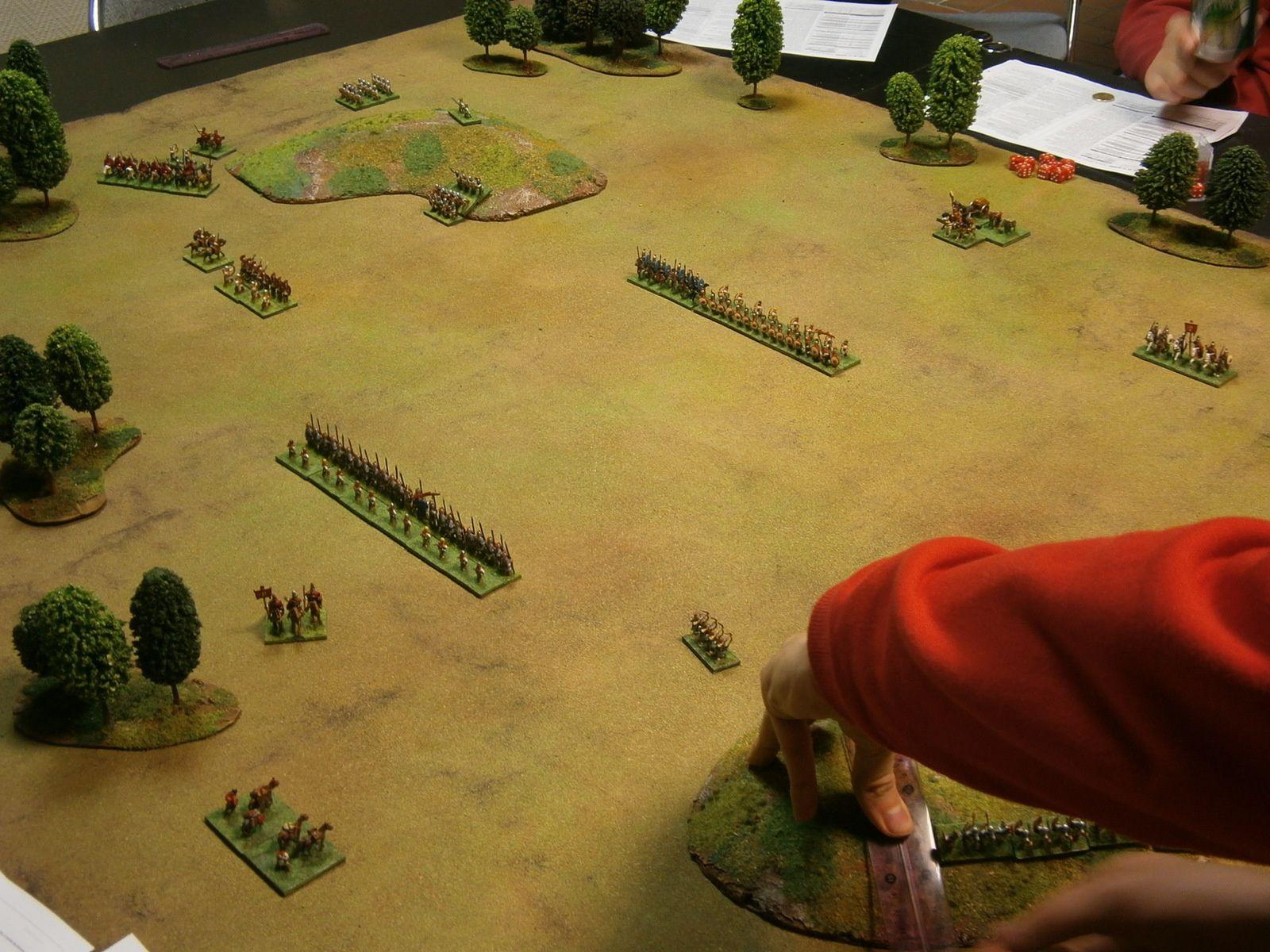 Les deux armées romaines prêtes à en découdre