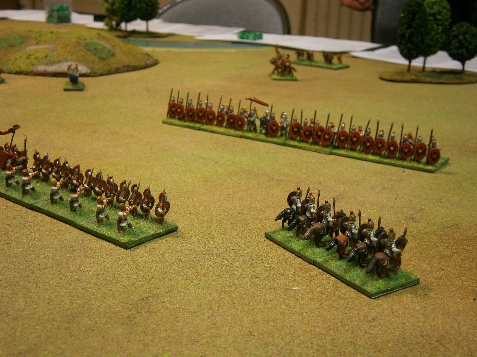 Les unités lourdes des Légions, dans la plaine