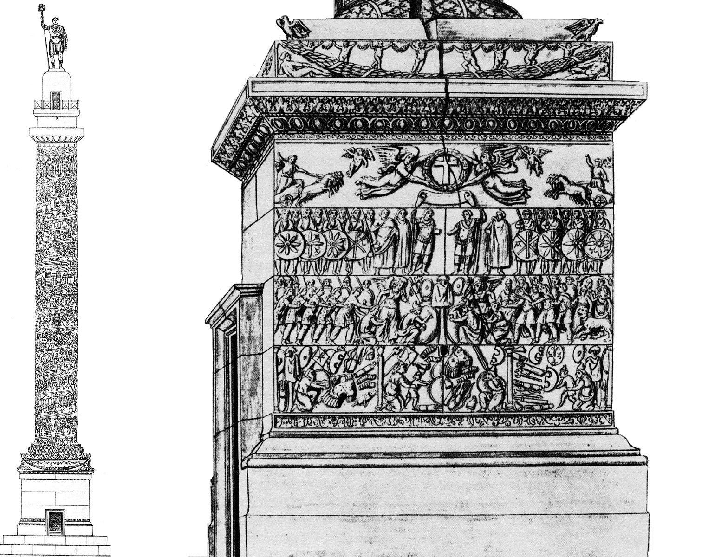 La colonne d'Arcadius, qui fut érigée à Constantinople en mémoire de sa victoire sur les Goths