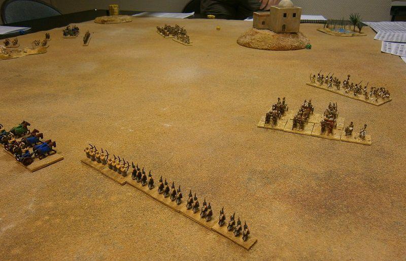 Les Egyptiens approchent dans la vallée, les coalisés sont dispersés