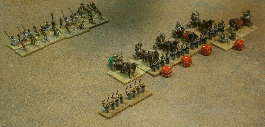 Et, partout, les armées de Pharaon comptent de lourdes pertes, et ne tarderont pas à s'effondrer