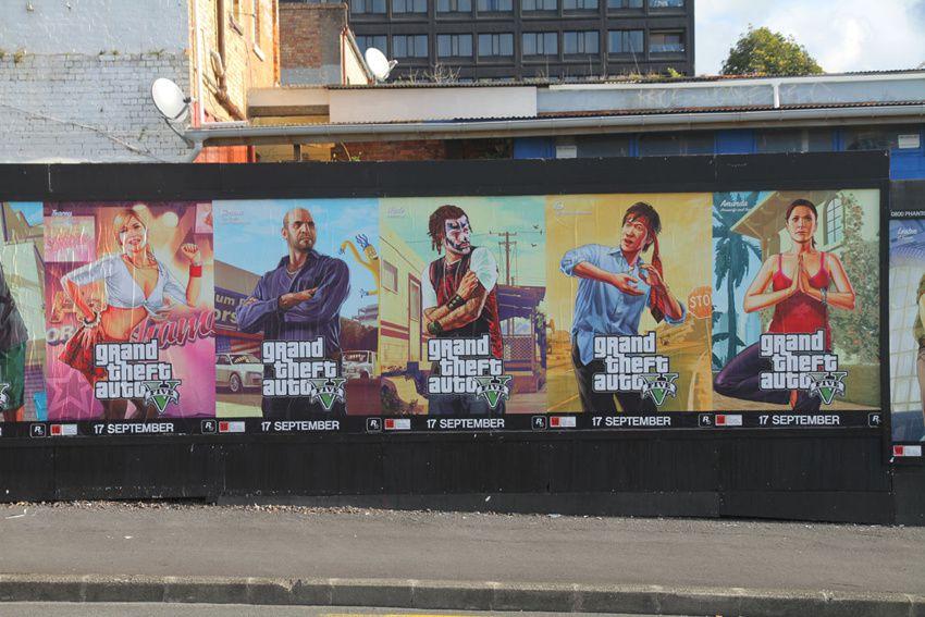 GTA 5 s'offre de nouvelles affiches publicitaires à quelques jours de sa sortie