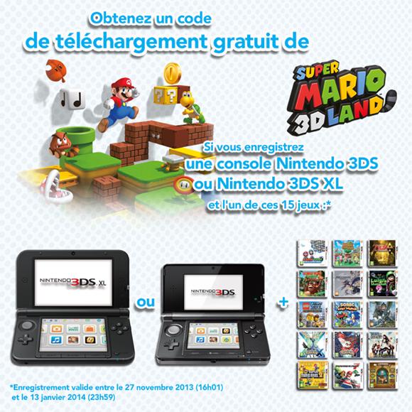 Super Mario 3D Land gratuit !