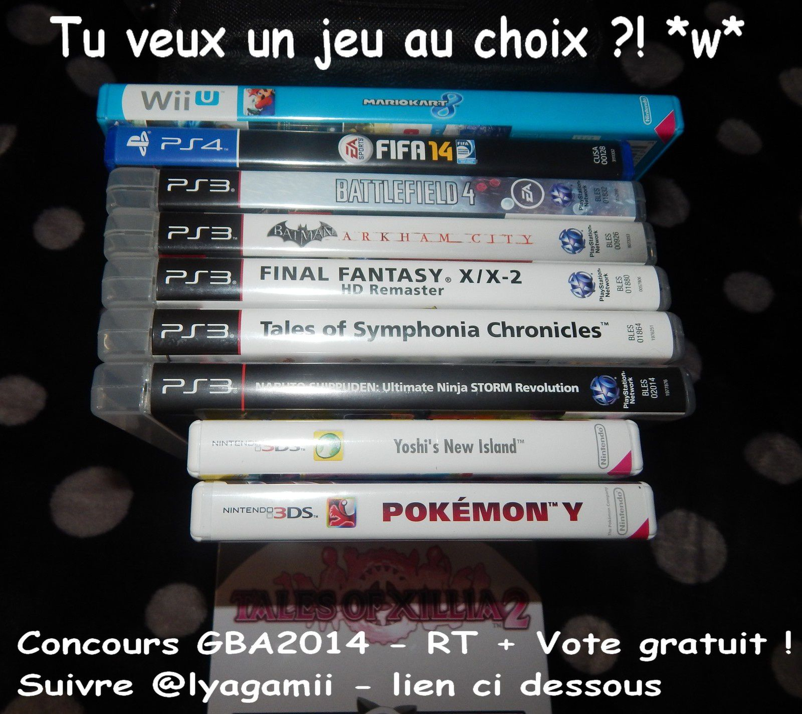 Jeux a gagner ! Concours #GBA2014 otakuplayer ! Vote PLEASE RT